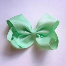 Haarspeld meisje - Strik 12 cm groen
