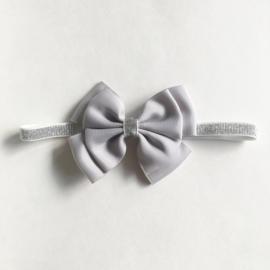Glitter en glamour haarband - zilver/grijs