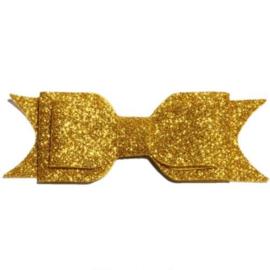 Glitter strik - Goud
