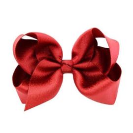 Haarstrik glans - Rood 10 cm