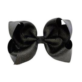 Haarstrik glans - Zwart 10 cm