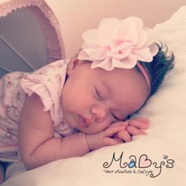 Haarbandje baby meisje - Bloem (10cm) Lichtroze