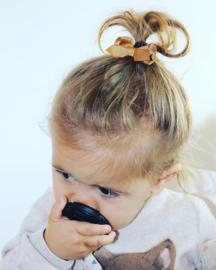 Baby haarspeldje met strikje - bruin