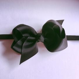 Haarbandje baby meisje - Strik 8cm zwart