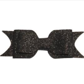 Glitter strik - Zwart