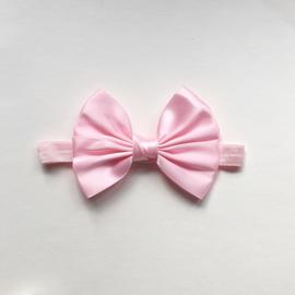 Haarbandje newborn baby  - Strik 11 cm roze