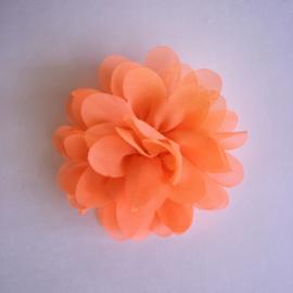 Haarspeldje met bloemetje 7 cm - Neon oranje