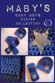 Winterset jongen Maby's - Muts en sjaal met ster (blauw)