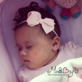 Haarbandje baby meisje - Strikje (8cm) lichtroze