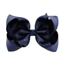 Haarstrik glans / Navy 10 cm