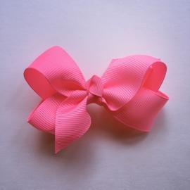 Haarclip baby meisje - Strikje 8 cm neonroze