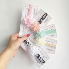 Haarbandje met bloemetje - verschillende kleurtjes