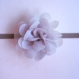 Haarbandje baby/meisje - Bloemetje (5cm) grijs