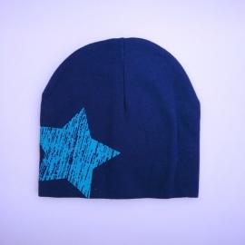 Babymuts - Donkerblauw met ster