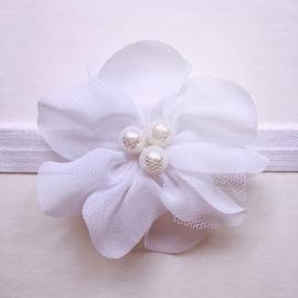 Haarbandje baby meisje parel - Wit