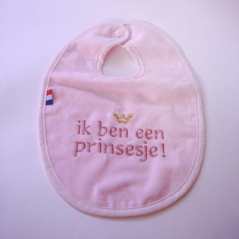 Slabbetje Prinsesje - Roze