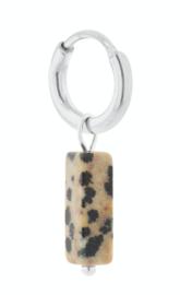Label Kiki - Single dalmatian beam hoop silver