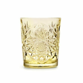 Libbey Hobstar glas - pale yellow