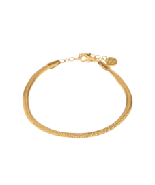 Label Kiki - Smooth snake bracelet goud