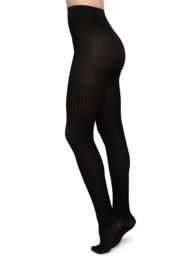 Swedish Stockings - Alma rib tights black