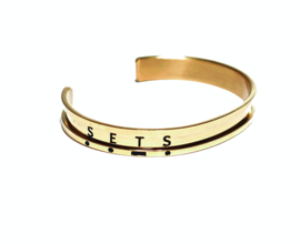 Haarelastiek armband - goldie