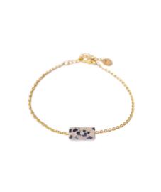 Label Kiki - Dalmatian Jasper goud