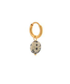 Label Kiki - Single dalmatian round hoop gold