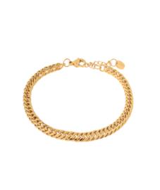 Label Kiki - Big snake bracelet goud