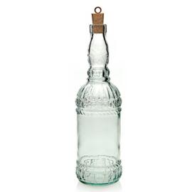 Glazen fles met kurk