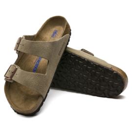 Birkenstock - Arizona suede leather taupe (narrow)