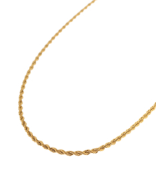 Label Kiki - Twisted rope necklace goud