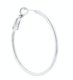 Label Kiki - Single plain really big chunky hoop silver