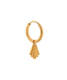 Label Kiki - Single fringes hoop goud