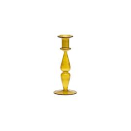 Anna + Nina - Desert yellow glass candle holder
