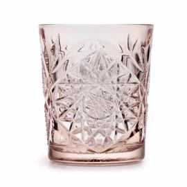 Libbey Hobstar glas - coral pink