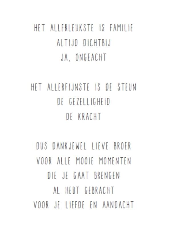 Hedendaags JIP - Lieve broer.. | Kaarten | KOEKWAUS Den Bosch NN-08