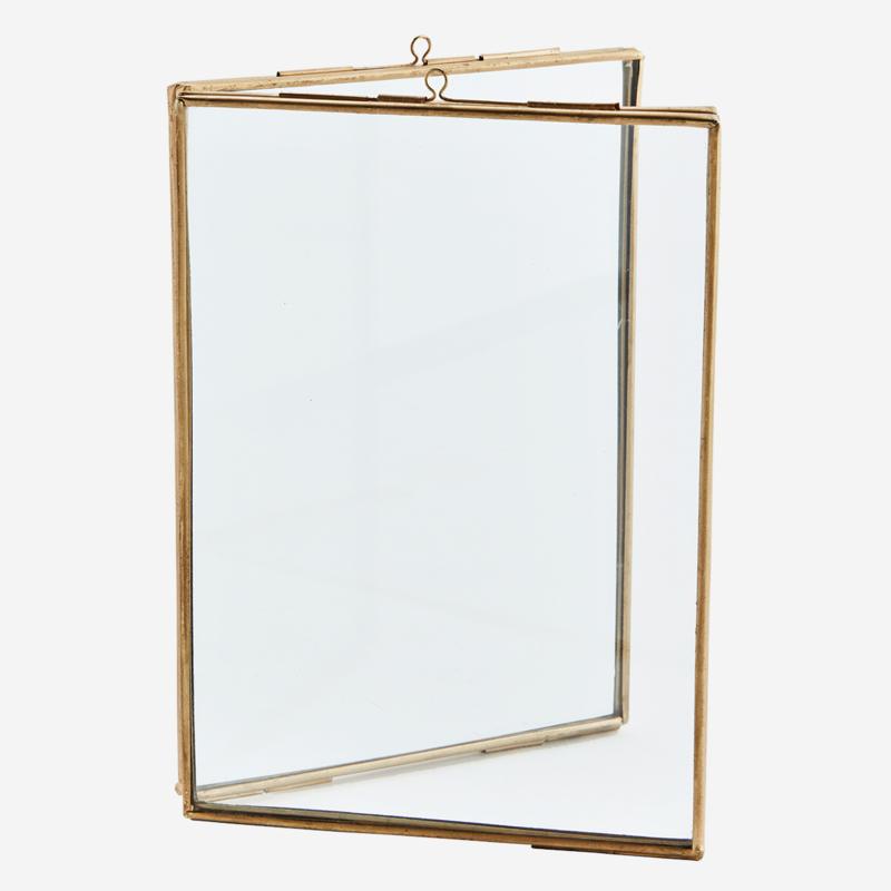 Madam Stoltz - Dubbel photo frame gold