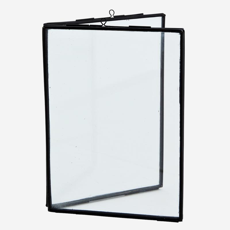 Madam Stoltz - Dubbel photo frame black