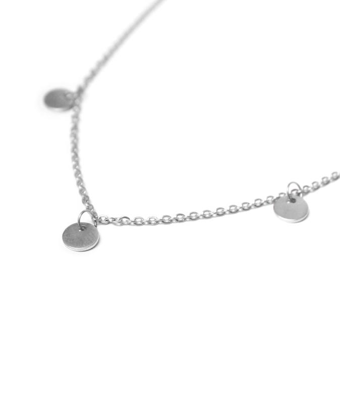 Label Kiki - Label necklace zilver