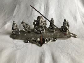 Wierookhouder, 5x Ganesh op Palmblad