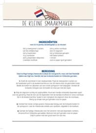A5 flyers met 3 recepten van 'De kleine Smaakmaker' (100 stuks per variant)