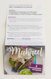 Makreel on-pack sticker (Pakket B)