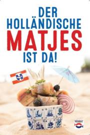 Poster culinair 'Der Holländische Matjes' - Groot