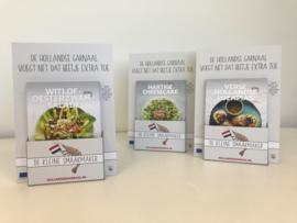 Display voor A5 flyers met recepten van 'De kleine Smaakmaker'