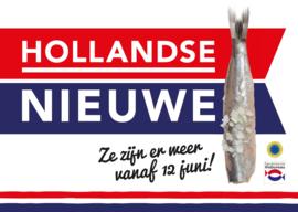 Raamstrook Hollandse Nieuwe met datum