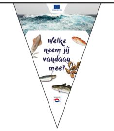 Set 'Een Noordzee vol vis' promotiemateriaal