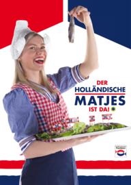 Poster Heringsmädchen 'Der Holländische Matjes ist da!'