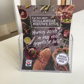 Display voor receptenboekjes