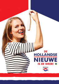 Poster Hollandse Nieuwe haringmeisje