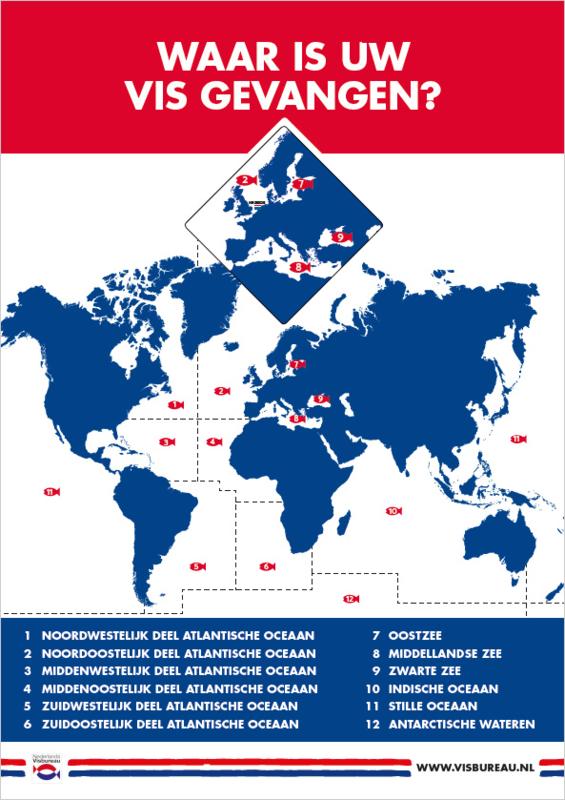 Poster visvangstgebieden A2-formaat